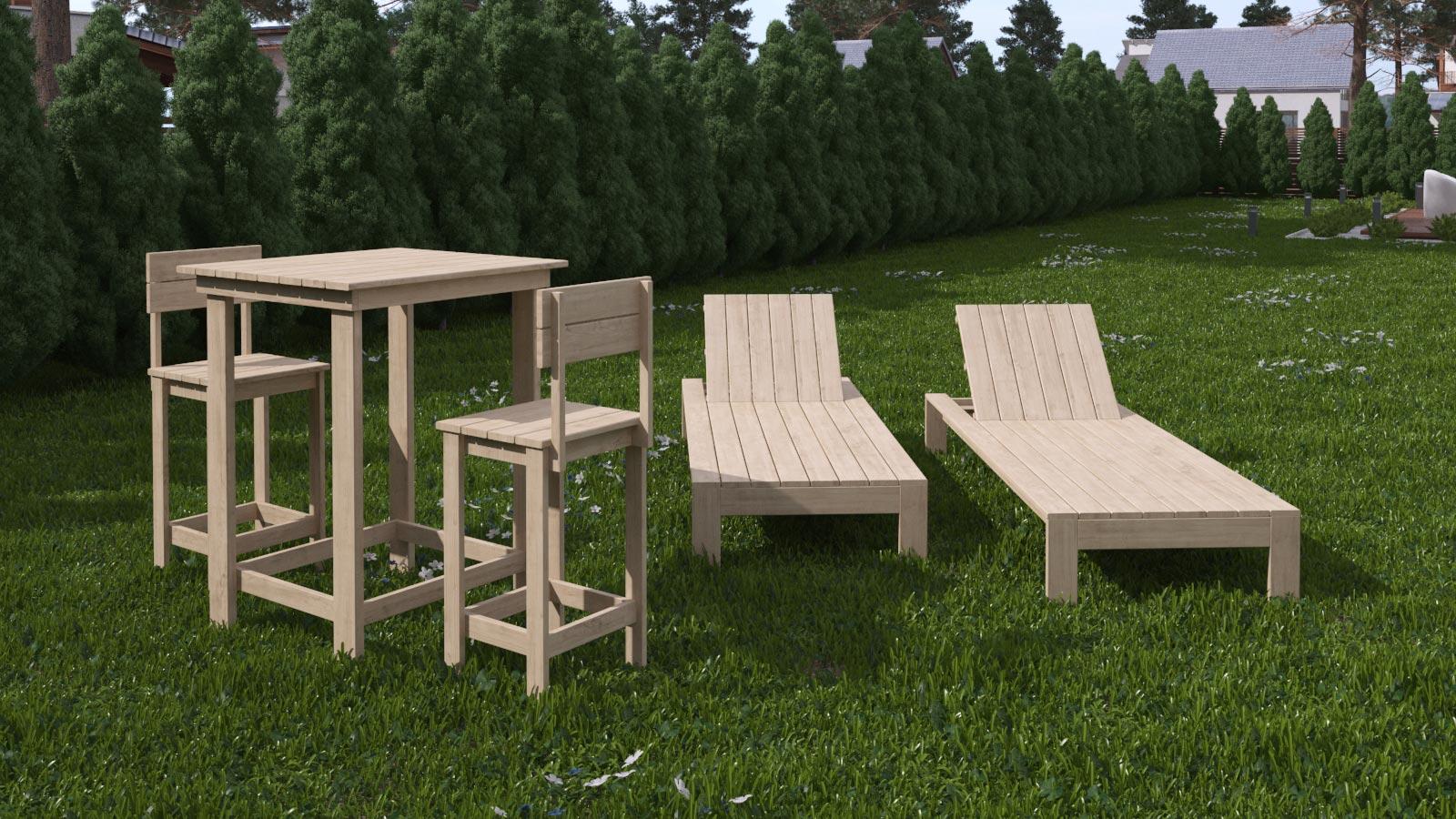 Mobili per giardino rendering for Rendering giardino