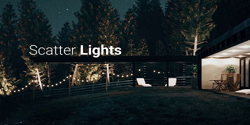 Forest Pack - Esempio scattering luci